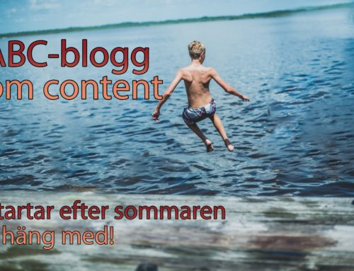 FÖLJ ABC-BLOGGEN OM CONTENT MARKETING!