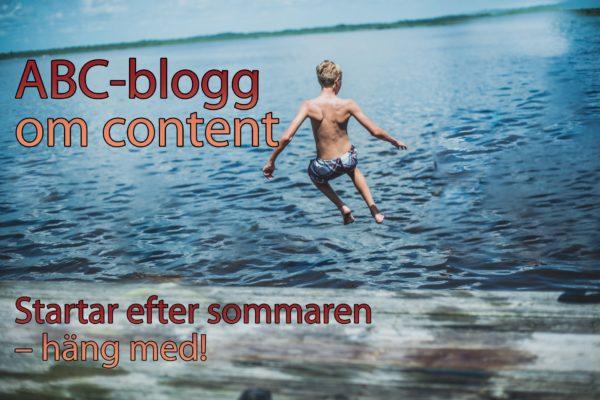 ABC-blogg om content marketing.